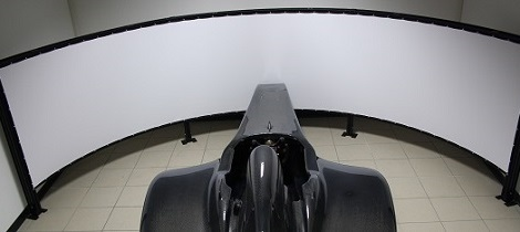 The simulator and the curved screen
